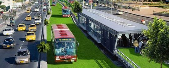 Bus Rapid Transit (BRT) systems are used in several mega cities