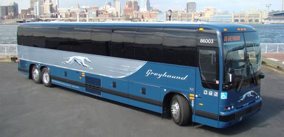 Prevost X3-45 high profile coaches to Greyhound