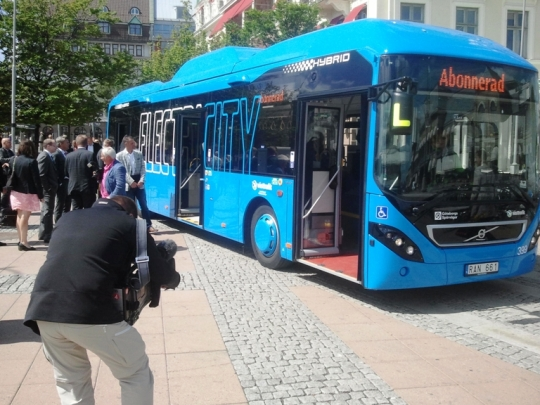 ElectriCity bus at Drottningtorget