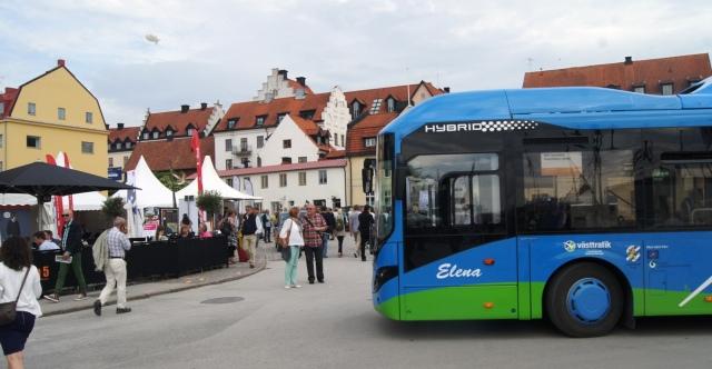 Volvo plug-in bus in Almedalen