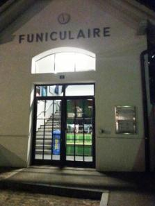 Entrance to the Funiculaire at the station in the valley