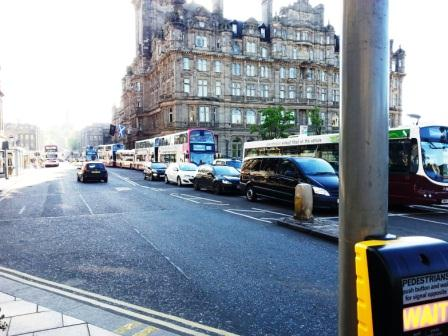 Traffic bottleneck in Ediburgh