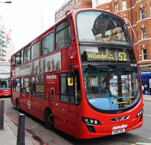 Volvo B5LH Hybrid double decker bus in UK