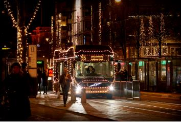 Volvo 7900 Electric Christmas Bus